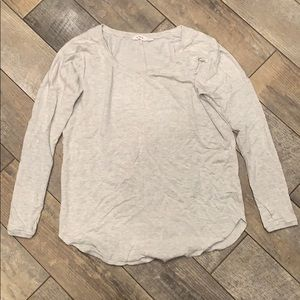 Athleta Women's Grey Long sleeve shirt-Large